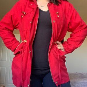 Gallery Petite Red Winter Coat